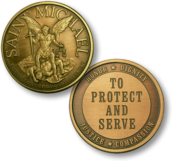 Motordog69 Saint Michael to Protect and Serve Coin