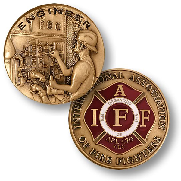 Motordog69 Fire Fighter-IAFF Coin