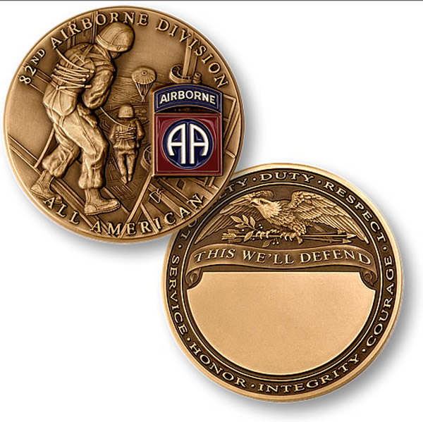 Motordog69 82nd Airborne Coin