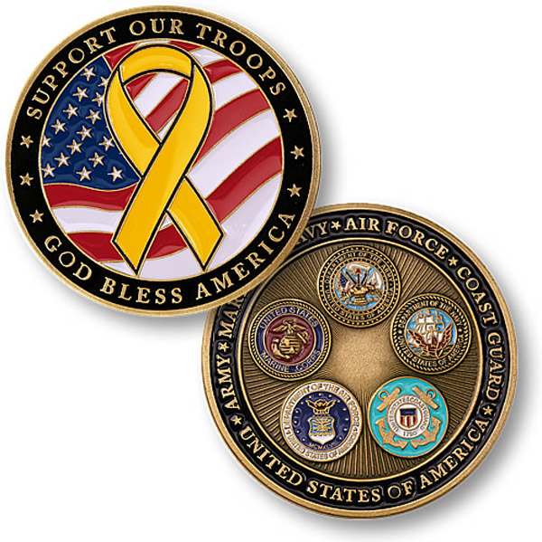 Motordog69 Support the Troops Coin