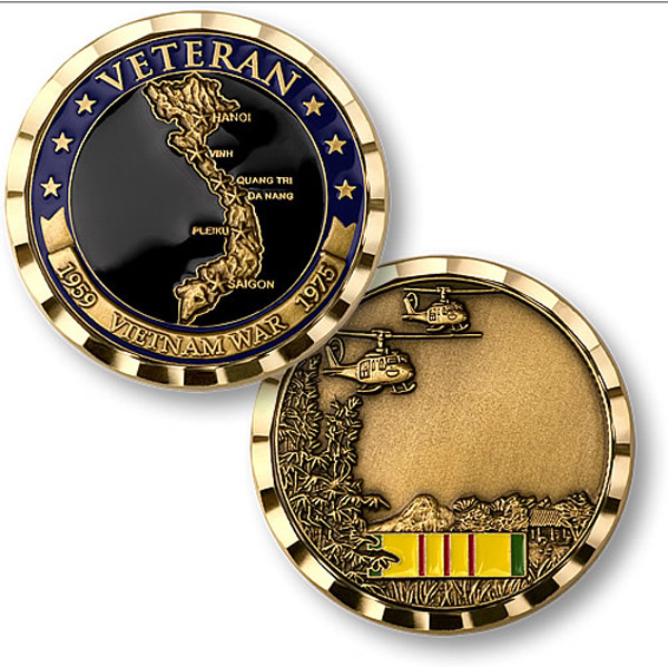 Motordog69 Vietnam Veteran Country Coin