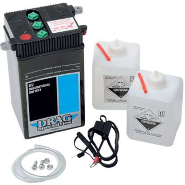 Drag Specialties Conventional 6v Battery Kit