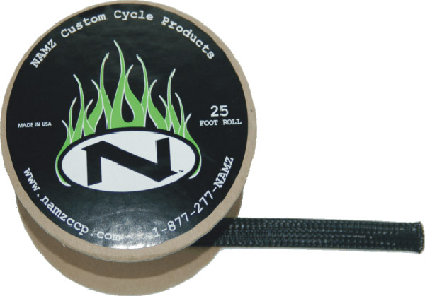 NAMZ Custom Cycle 25' Black Braided Cable Cover 3/8″ ID
