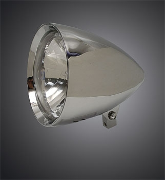 V-Twin Manufacturing Billet 7″ Rocket Headlight