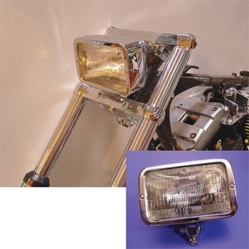 V-Twin Manufacturing Chrome Caddy Style Bottom Mount Headlight