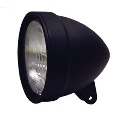 5-3/4″ Black Matte Headlight Assembly for Custom Use