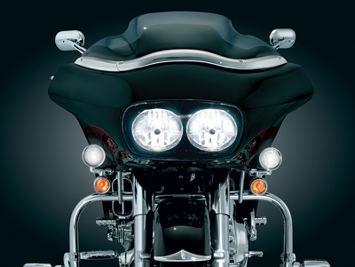 Kuryakyn Chrome Driving Lights for Road Glide