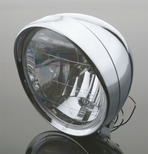 J&P Cycles® 7″ High Output Headlight Assembly with Bates Style Mount