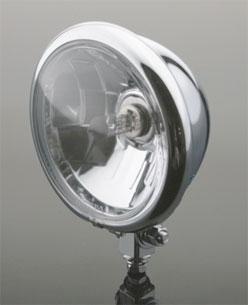 J&P Cycles 5-3/4″ Chrome Bottom Mount Custom Headlight Assembly