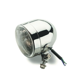 J&P Cycles® Chrome 4″ Halogen Headlight Housing with Running Lamp