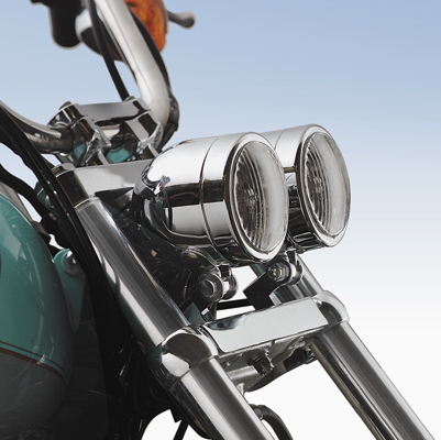 J&P Cycles® Dual Halogen Headlight Housing