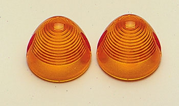 Motor City Cycle Amber Bullet Turn Signal Lenses