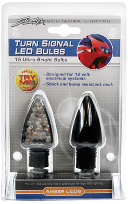Street FX LED Turn Signal Replacement Bulbs with Black Casing