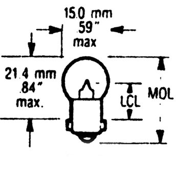 V-Twin Manufacturing Hi-Beam Indicator Bulb