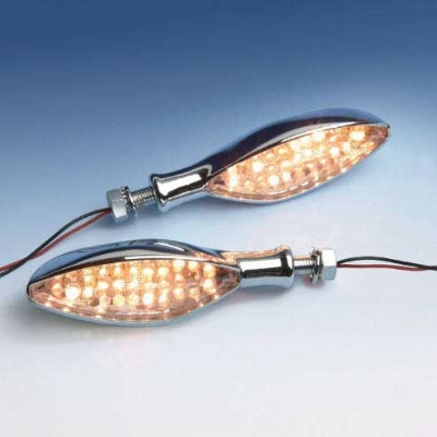 Show Chrome Accessories Amber LED Eagle Eye Turn Signals