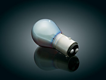 Iridium Coated Red Incandescent Bulb