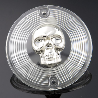 J&P Cycles® Skull Clear Turn Signal Lens