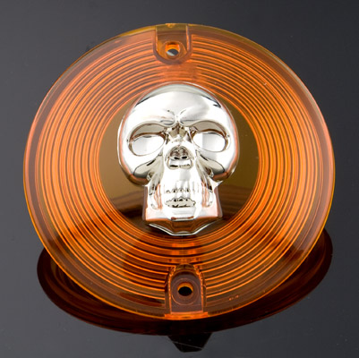 J&P Cycles® Skull Amber Turn Signal Lens