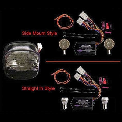 Laydown Smoked Tail Lamp Lens Kit