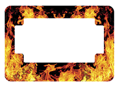 American Eastern Traders Flames License Plate Frame