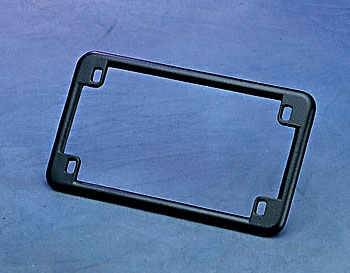J&P Cycles® 'Black Chrome' License Plate Frame