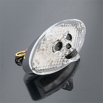 3-D Skull Taillight Cateye with LEDs