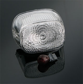 J&P Cycles® Clear Taillight Lens