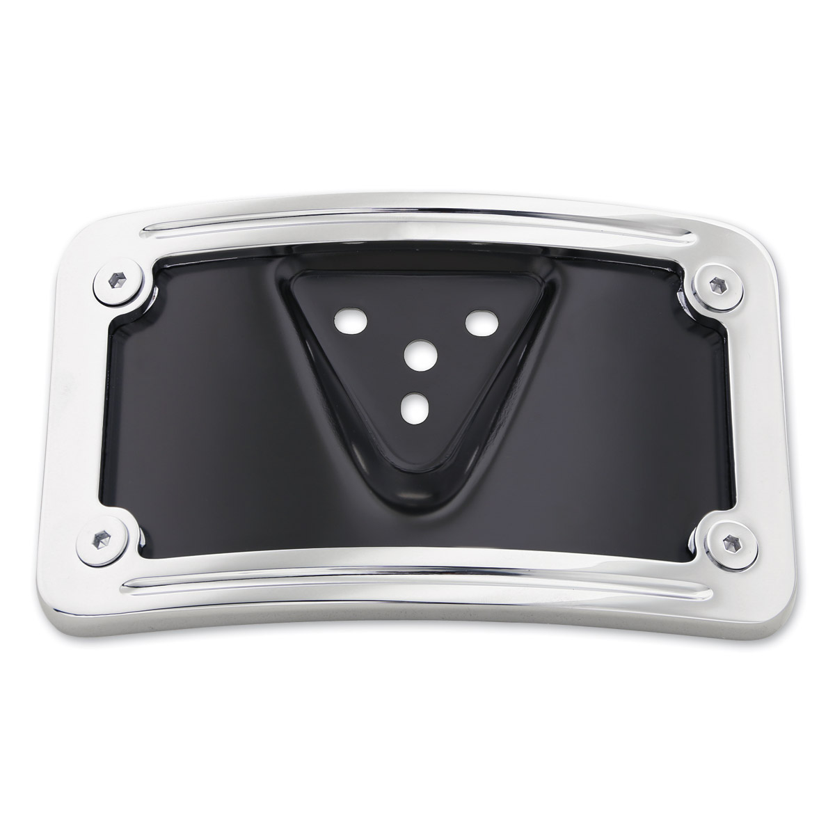 milwaukee twins chrome curved license plate mount