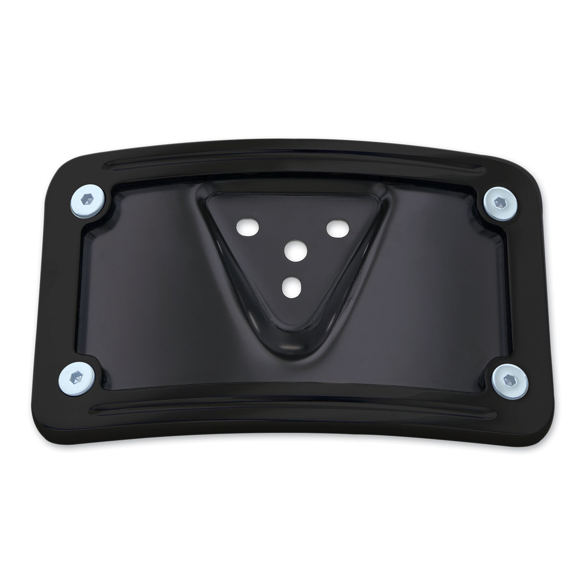 milwaukee twins black curved license plate mount