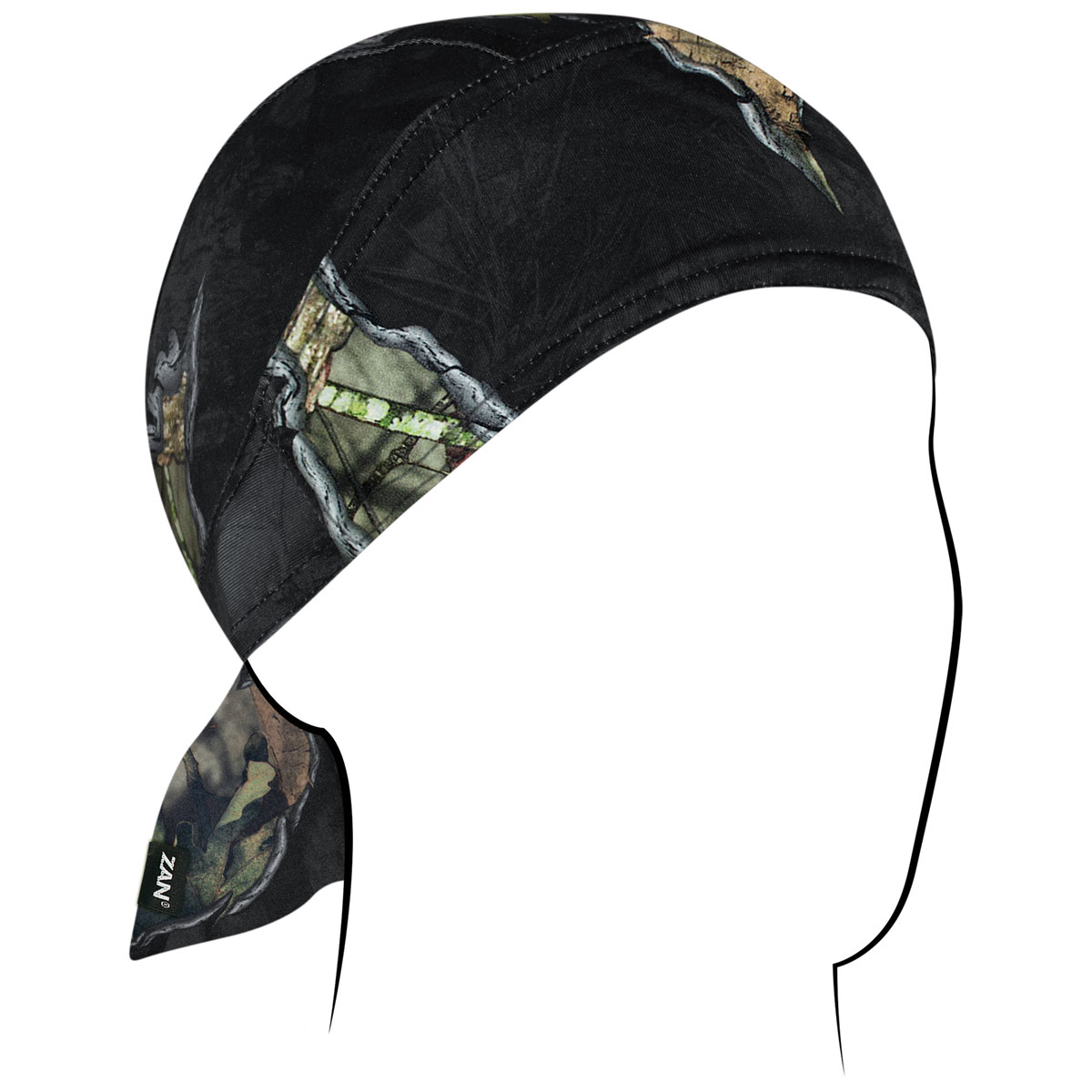ZAN headgear Mossy Oak Break-up Eclipse Polyester Flydanna with Sweatband