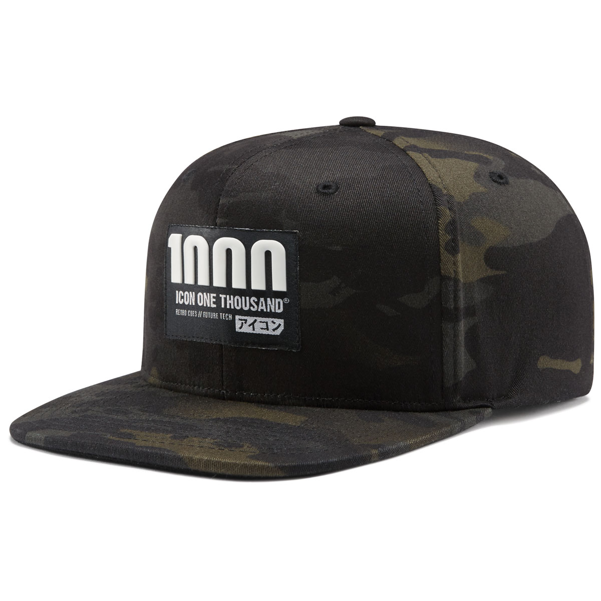 ICON One Thousand Camo Vertixal Snap Back Hat