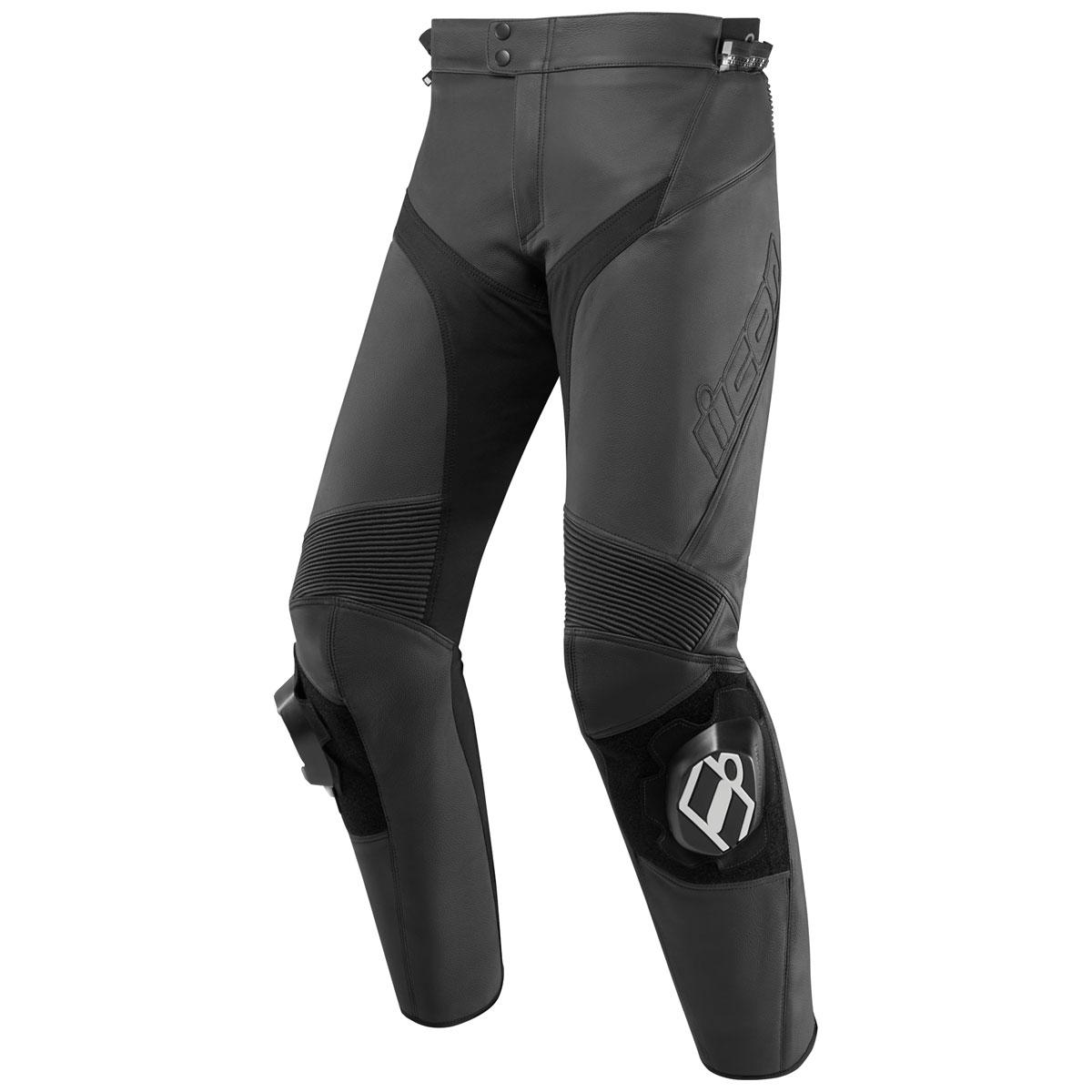 ICON Men's Hypersport 2 Black Leather Pants