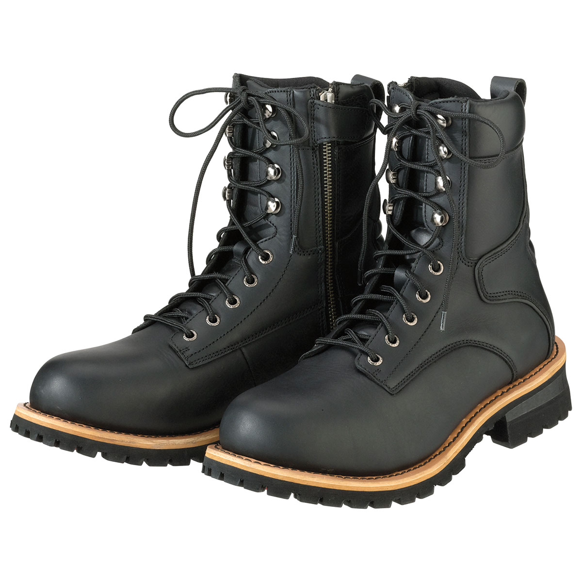 Z1R Men's M4 Waterproof Black Leather Boots