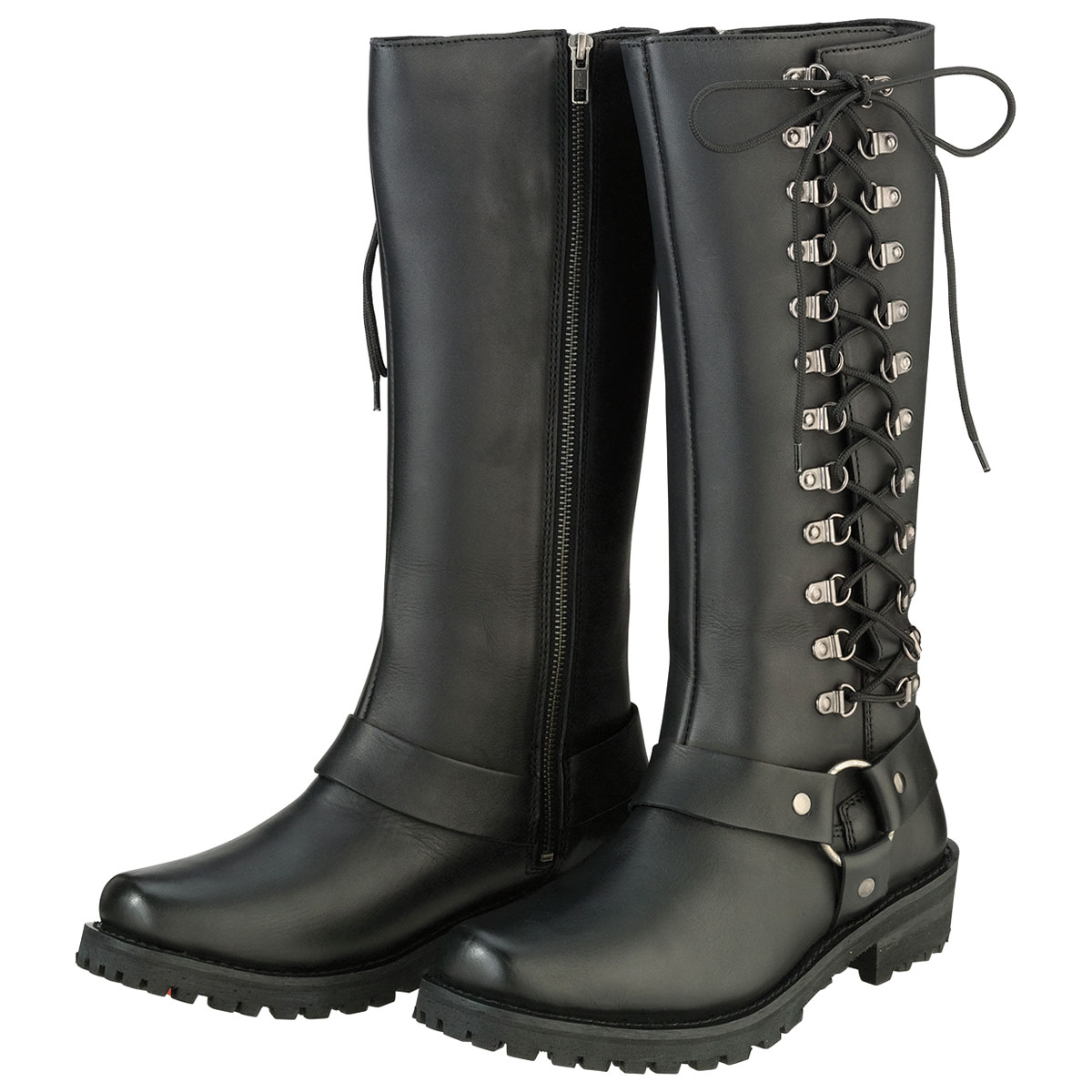 Z1R Women's Savage Black Leather Boots