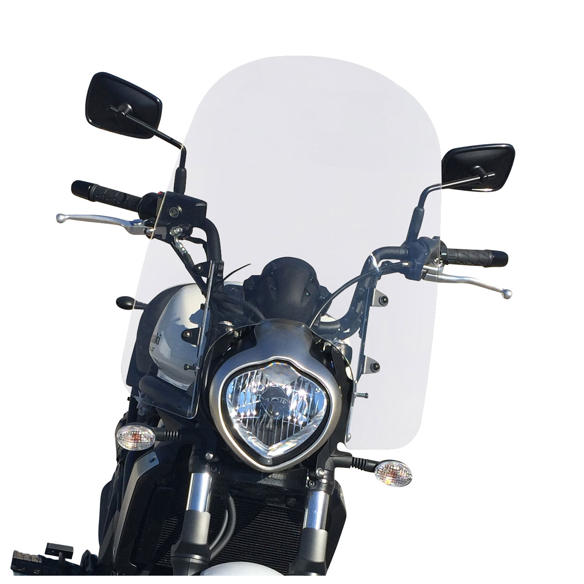 2015 - Up Adjustable Motorcycle Windshield System by Madstad Engineering Compatible 20, Clear Kawasaki Vulcan S