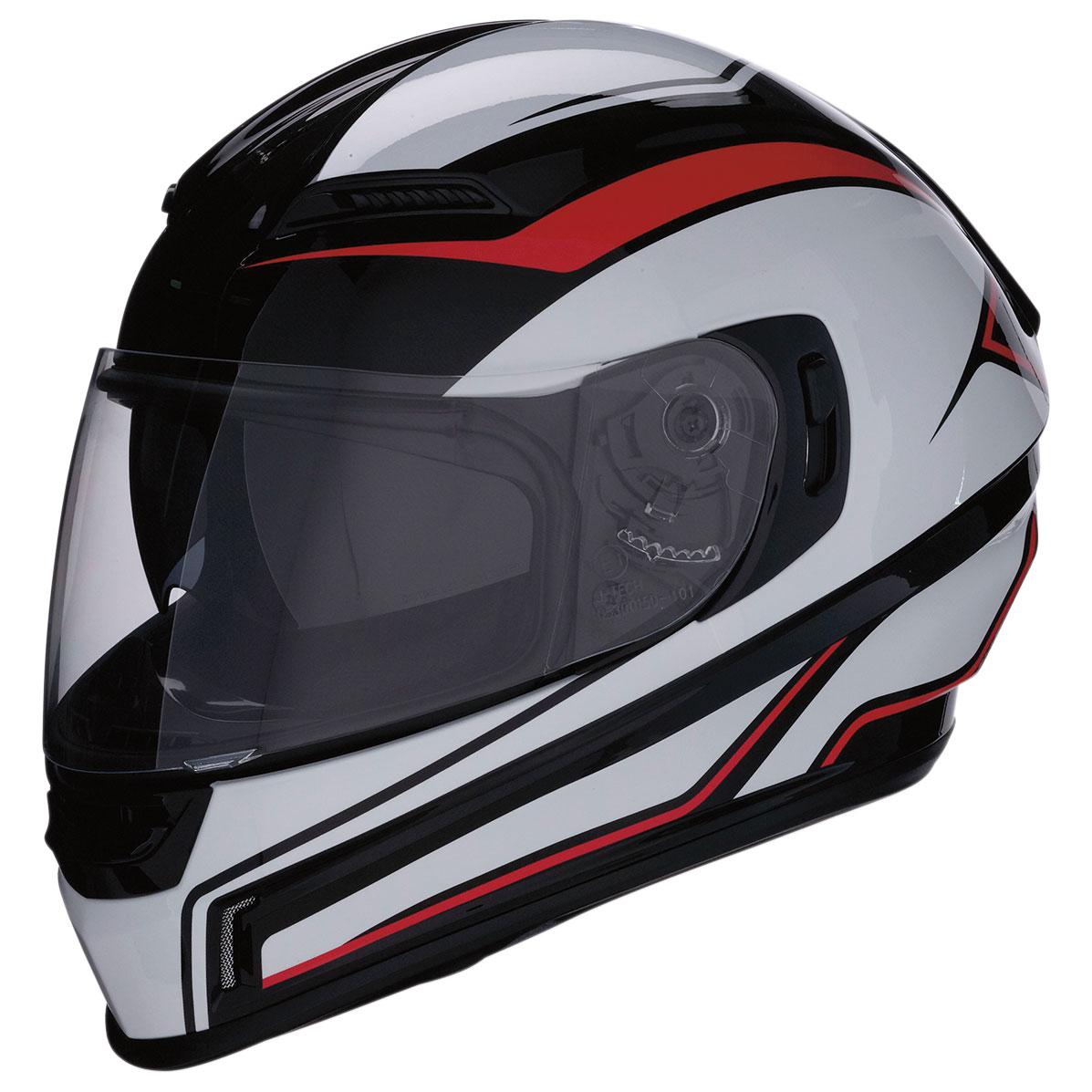 Z1R Jackal Aggressor Red/White/Black Full Face Helmet