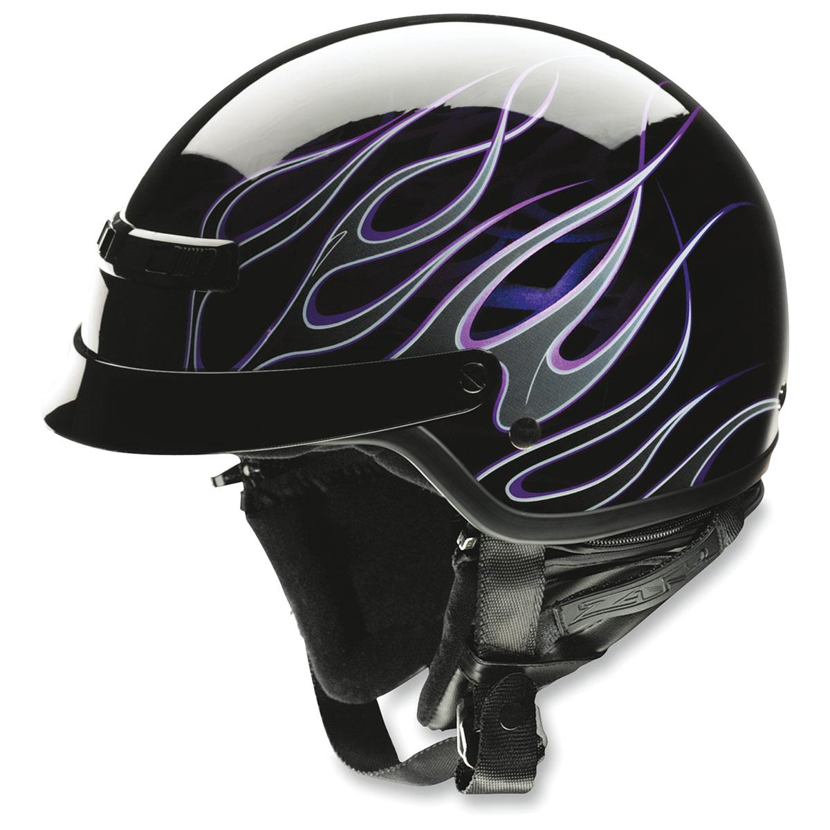 Z1R Nomad Hellfire Black/Purple Half Helmet