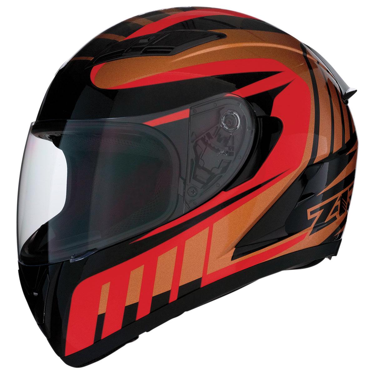 Z1R Strike Ops Attack Red/Bronze Full Face Helmet