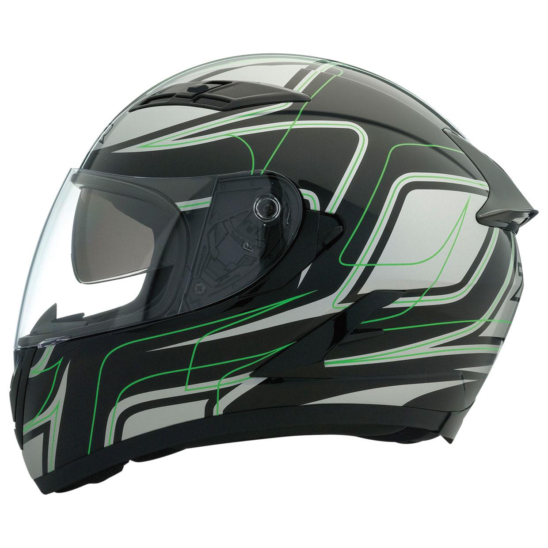Z1R Stike Ops SV Black/Green Full Face Helmet