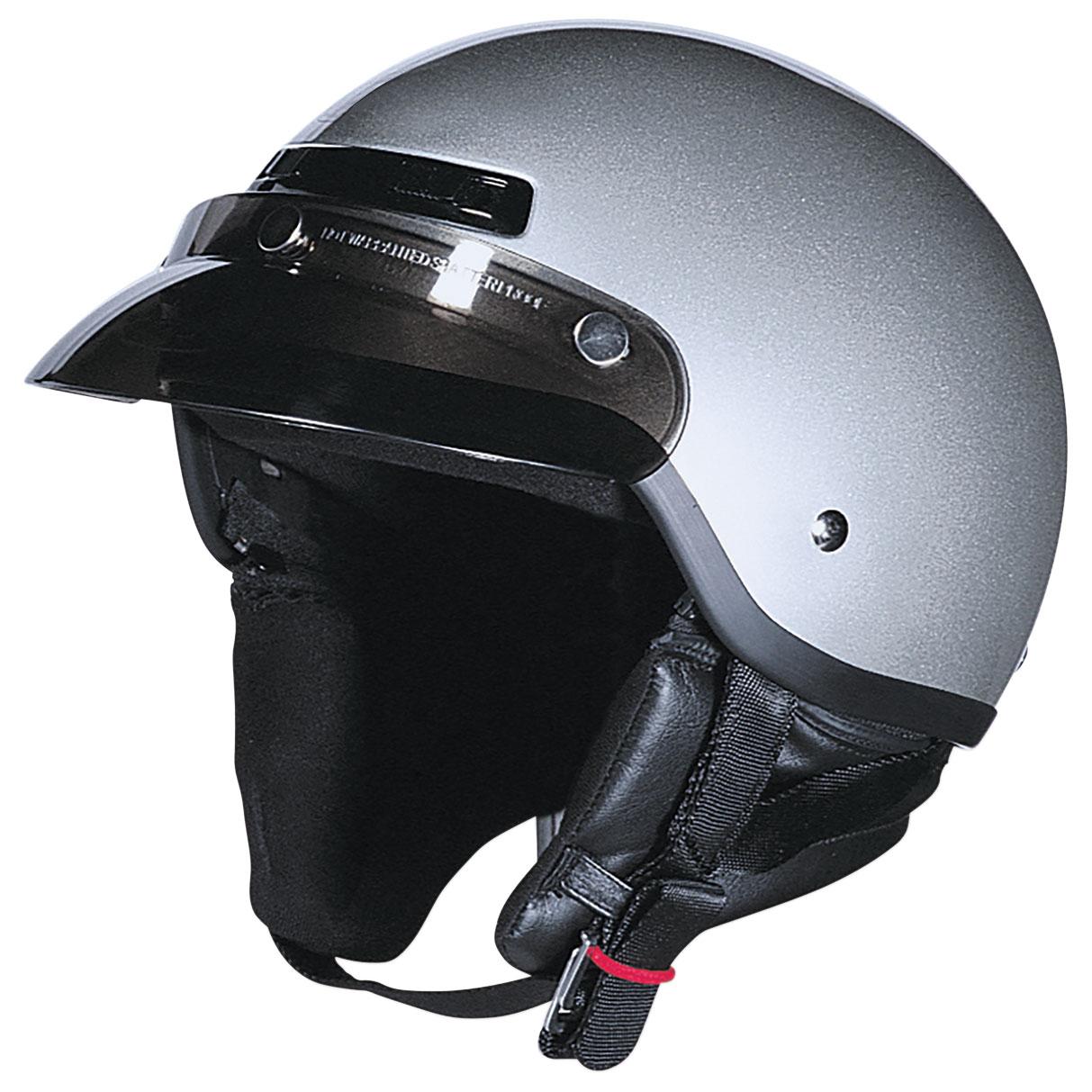 Z1R Drifter Silver Half Helmet