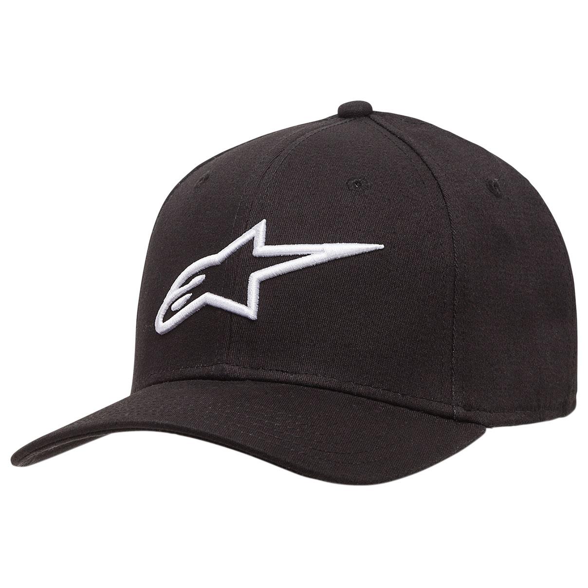 Alpinestars Men's Ageless Black/White Curved Bill Hat