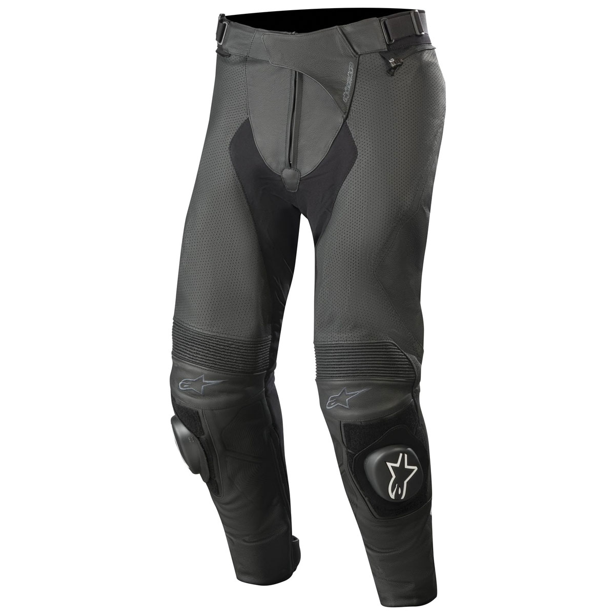 Alpinestars Men's Missile v2 Airflow Black Leather Pants
