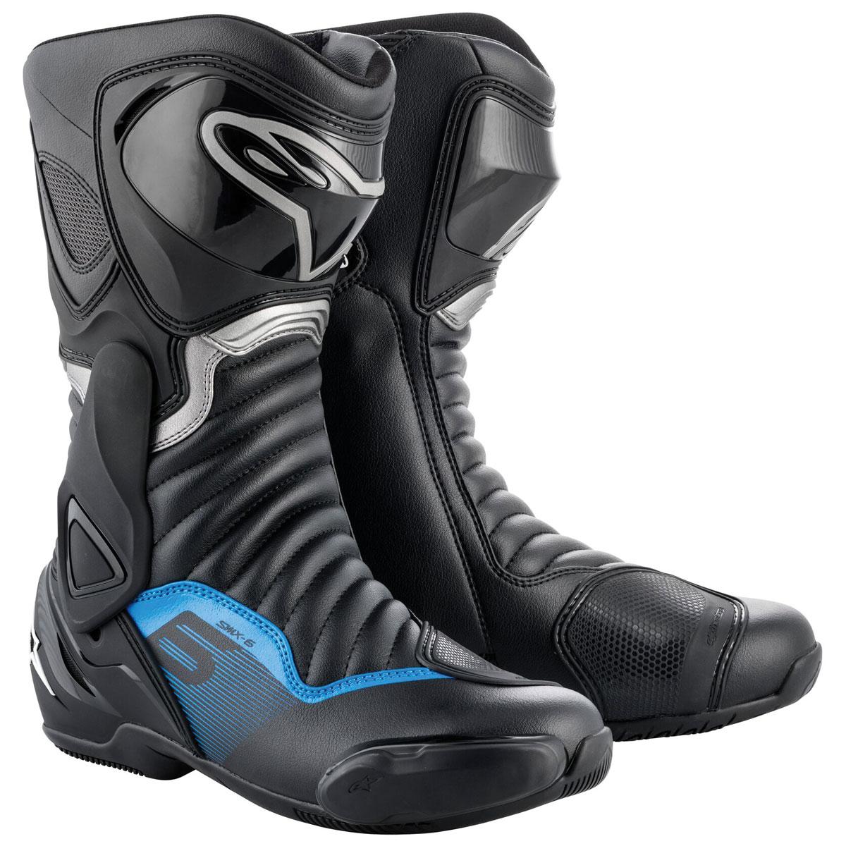 Alpinestars Men's SMX 6 v2 Vented BlackGun Metal Blue Boots 2223017 1178 49