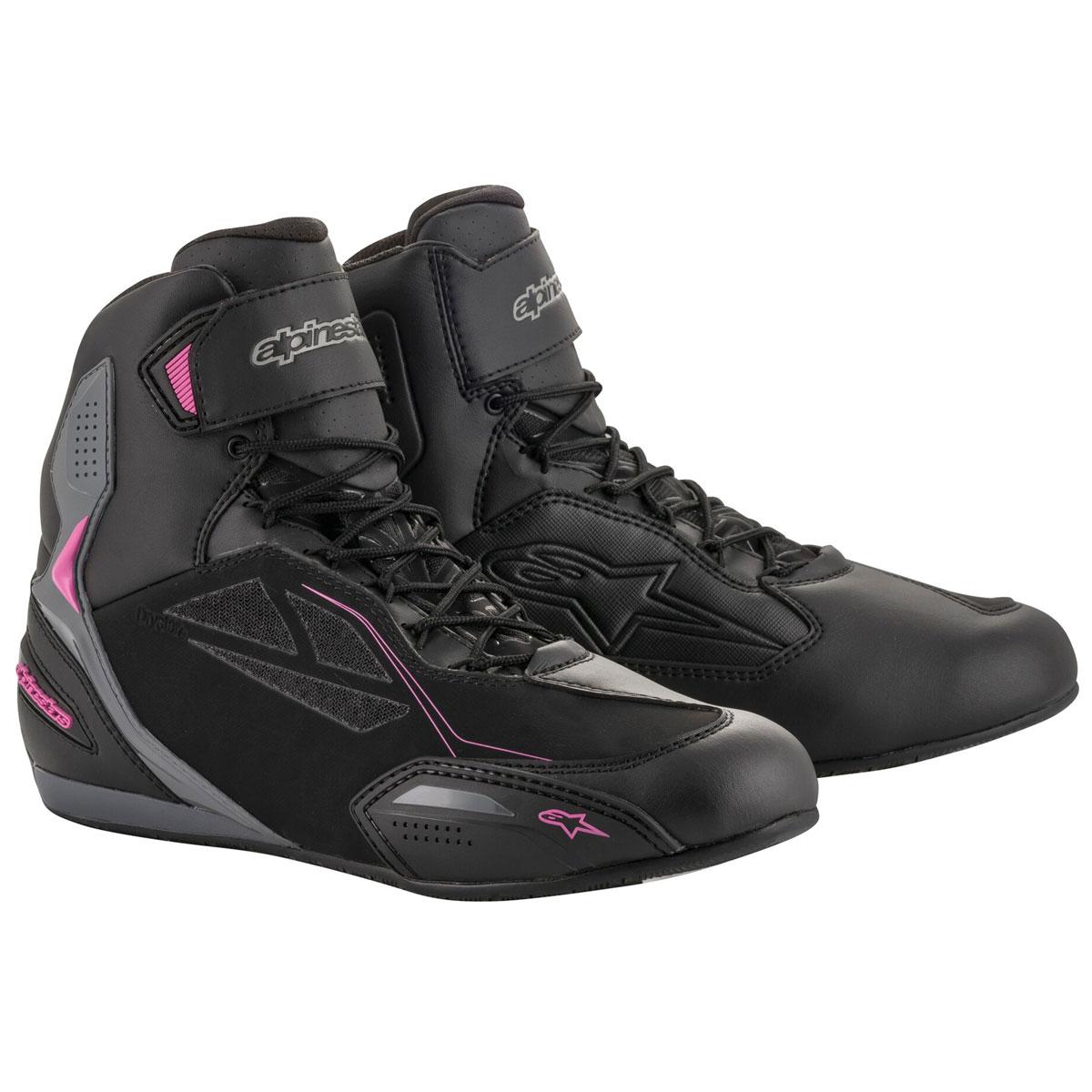 Alpinestars Women's Stella Faster-3 Drystar Black/Fuchsia Boots