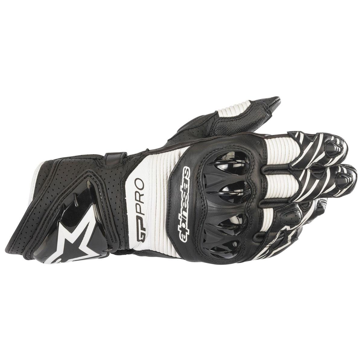 Alpinestars Men's GP Pro R3 Black/White Leather Gloves
