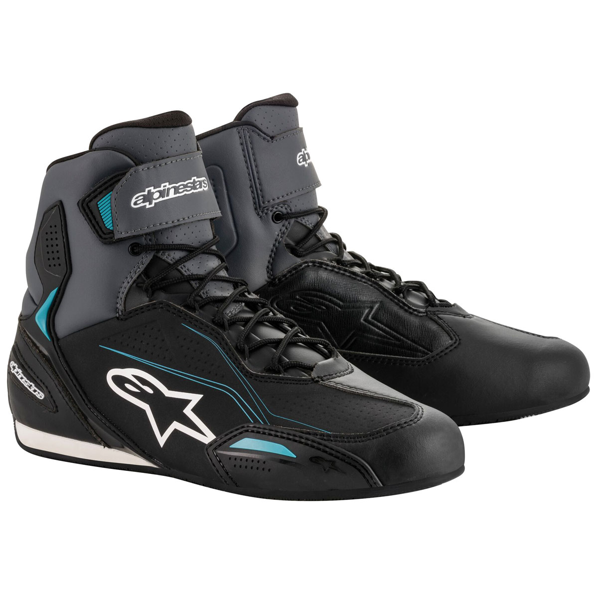 Alpinestars Women's Stella Faster-3 Black/Gray/Ocean Boots