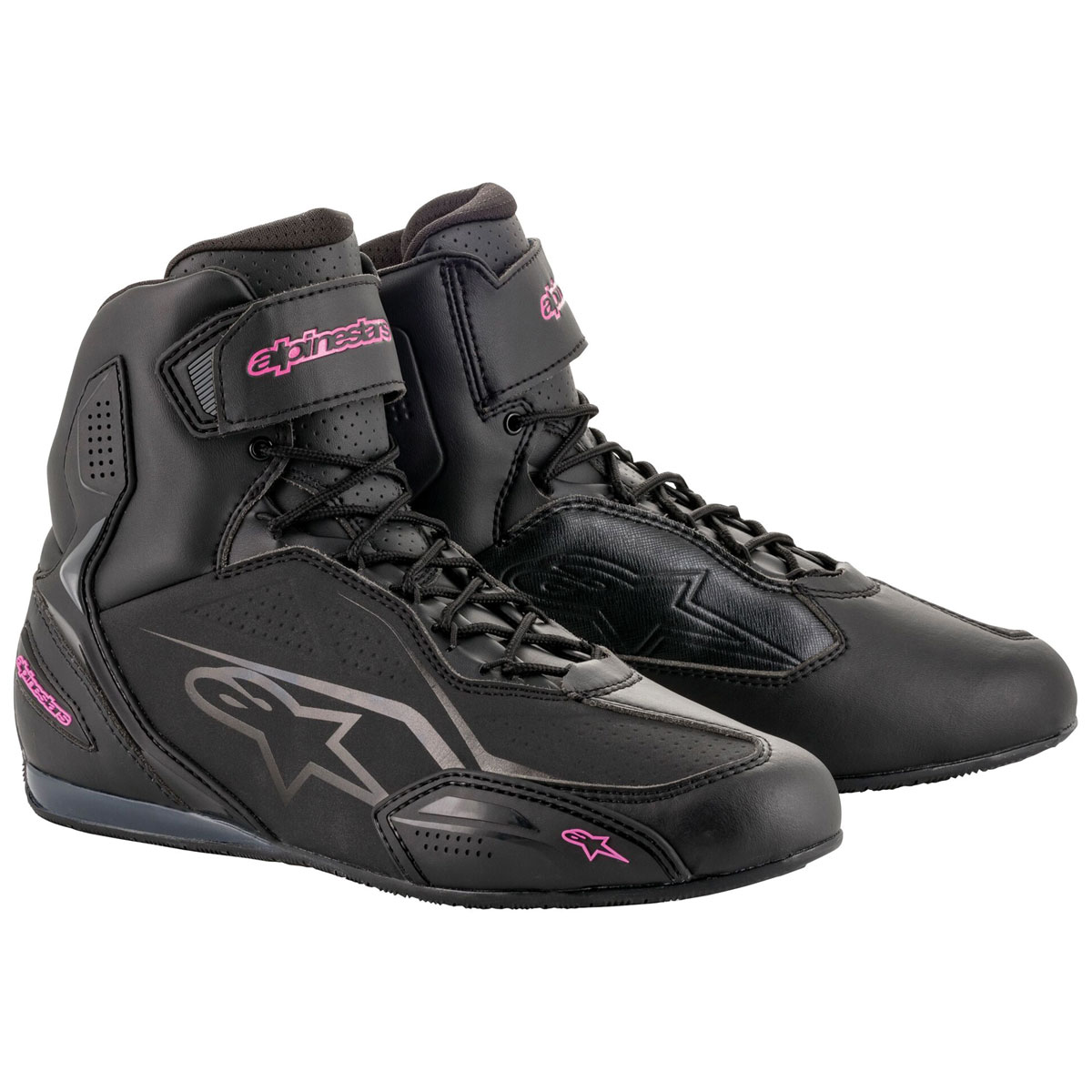 Alpinestars Women's Stella Faster-3 Black/Fuchsia Boots
