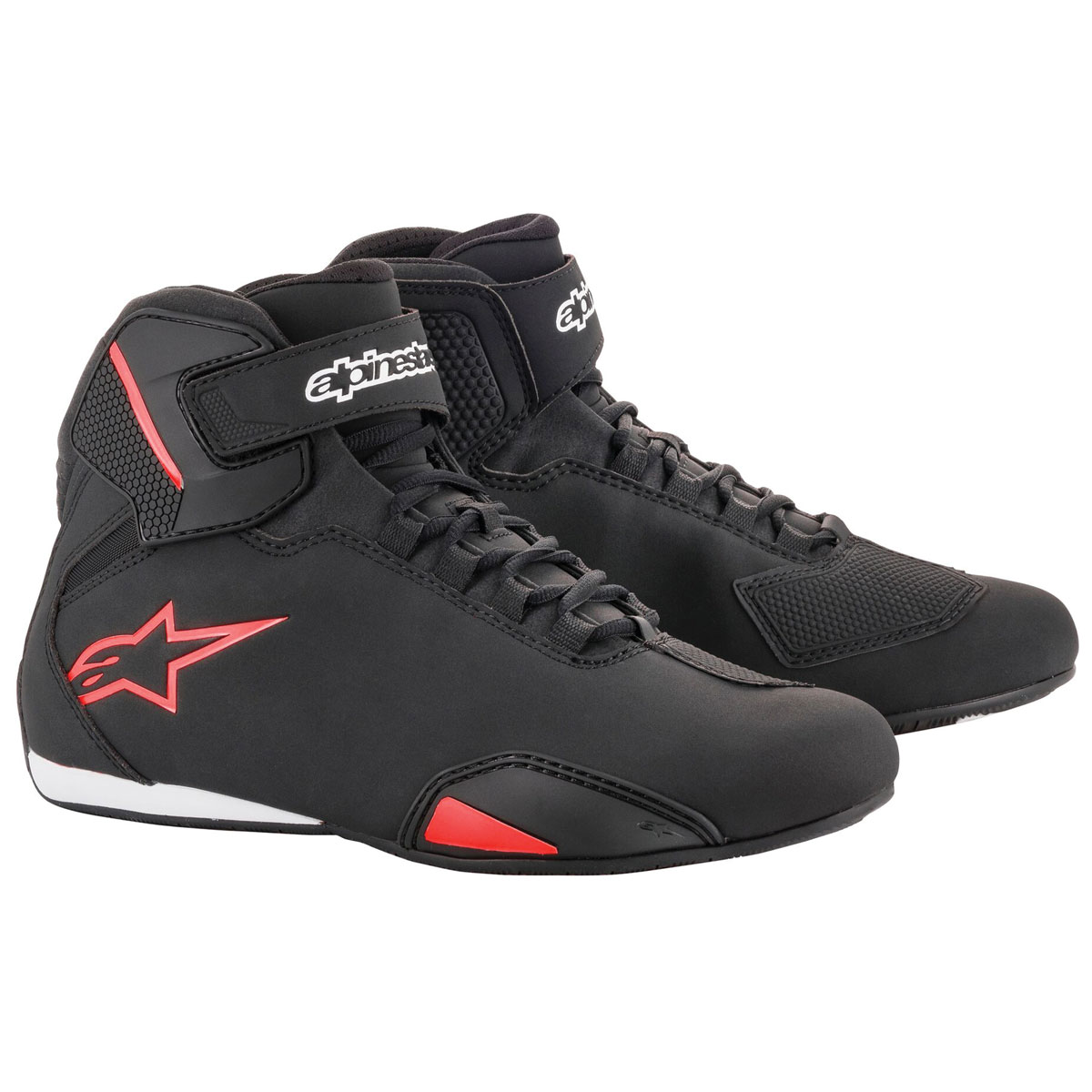 Alpinestars Men's Sektor Black/Red Riding Shoes