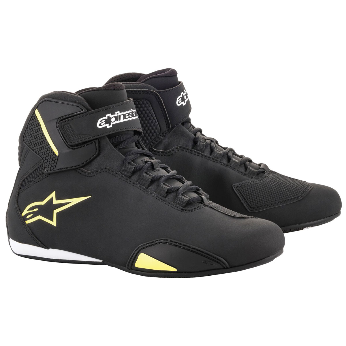Alpinestars Men's Sektor Black/Yellow Riding Shoes