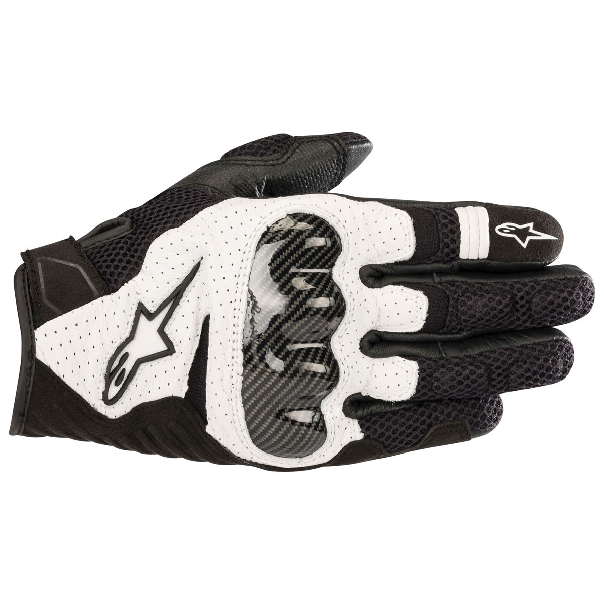 Alpinestars Men's SMX-1 Air v2 Black/White Leather Gloves